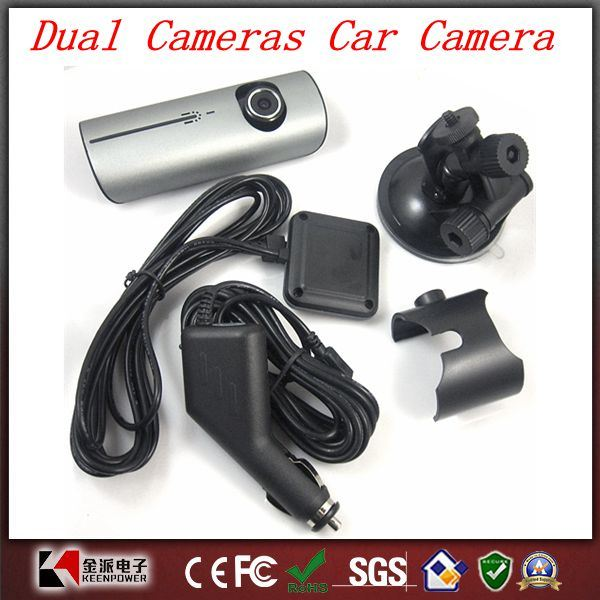 "Original X3000 2.7 ""LCD Wide Angle Dual Cameras Car Camera with GPS Logger"