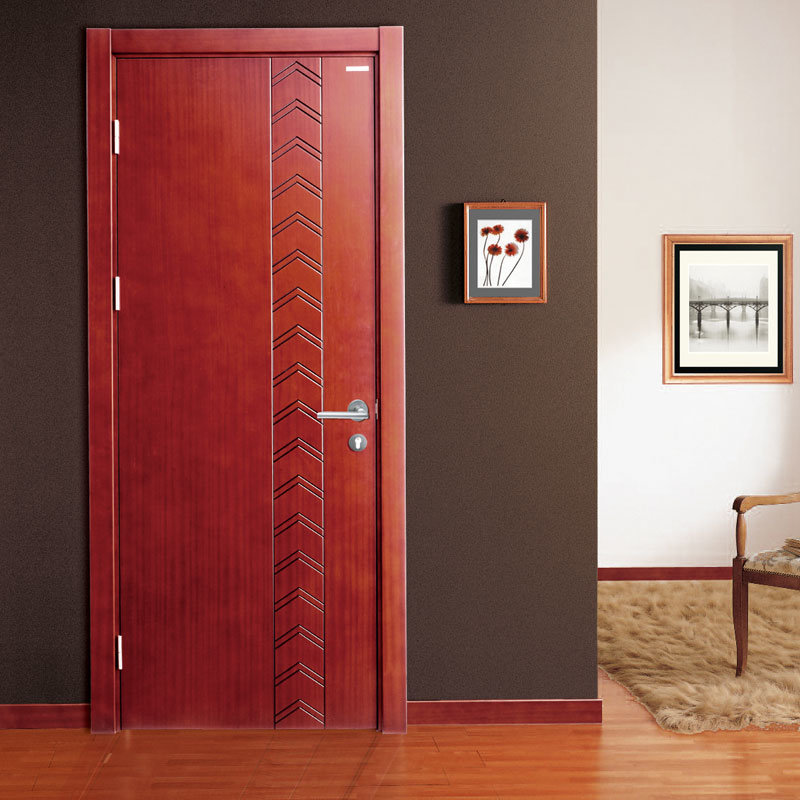 China Oppein Modern Red Wood Veneer Interior Door Mspd39