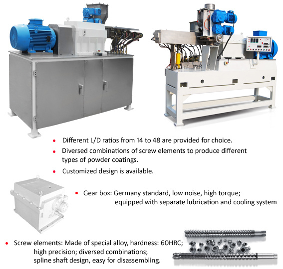 Two Screw Extruder for Powder Coating Slj-41
