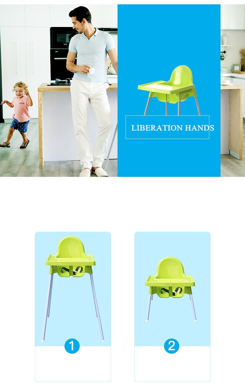 Red, Green and Blue Plastic Baby Highchair and Dining Chair
