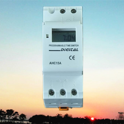 DIN-Rail Weekly Programmable Electronic Digital Timer (AHC15A)