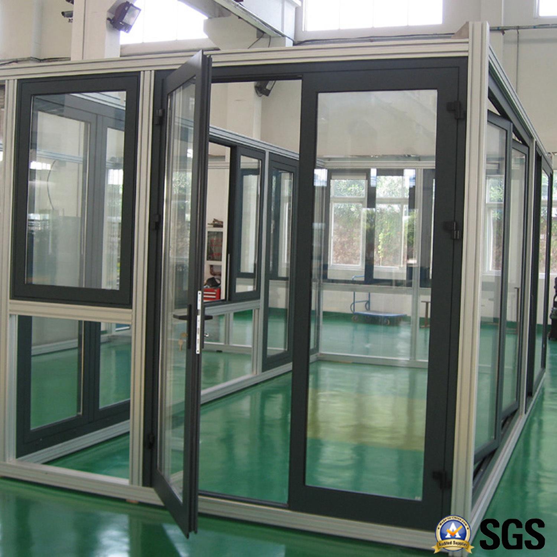 Good Quality Thermal Break Aluminum Casement Door, Aluminium Door, Door K06012