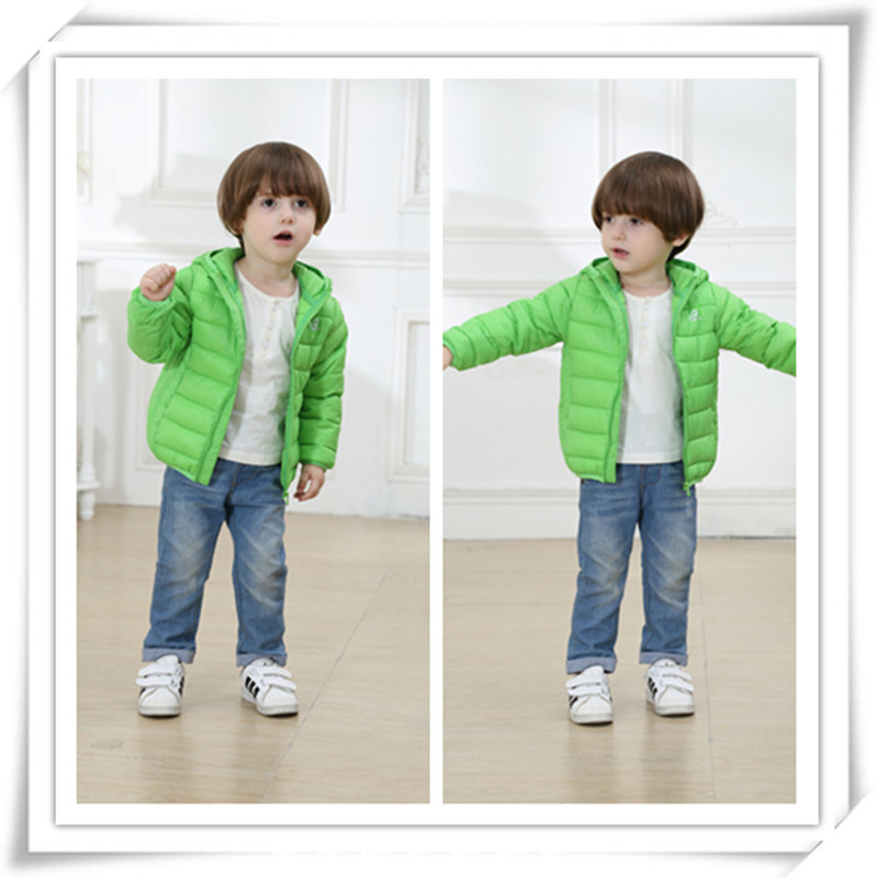 Children Boy Girl Kids Feather Coat Clothes Down Jacket Fashion Type 605