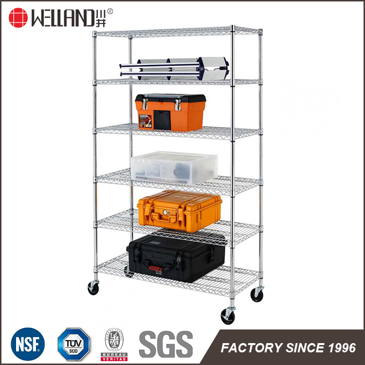 Metro Standard 800lbs Chrome Metal Wire Shelf Shelving with NSF and SGS Approval, 17 Years Factory