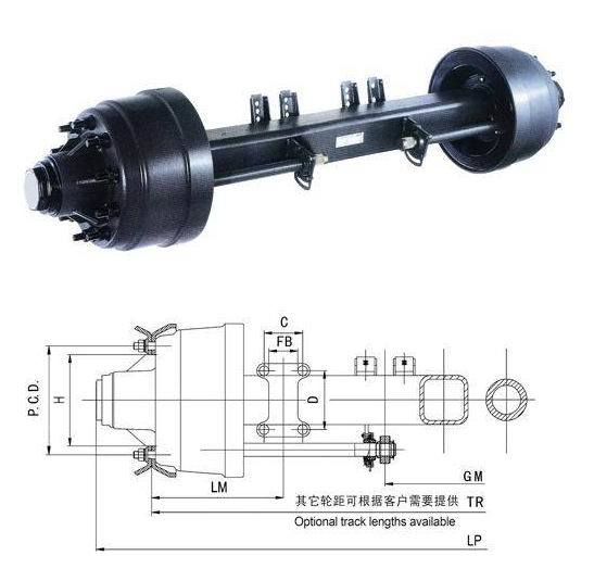 Fuwa Type American Semi Trailer Axle