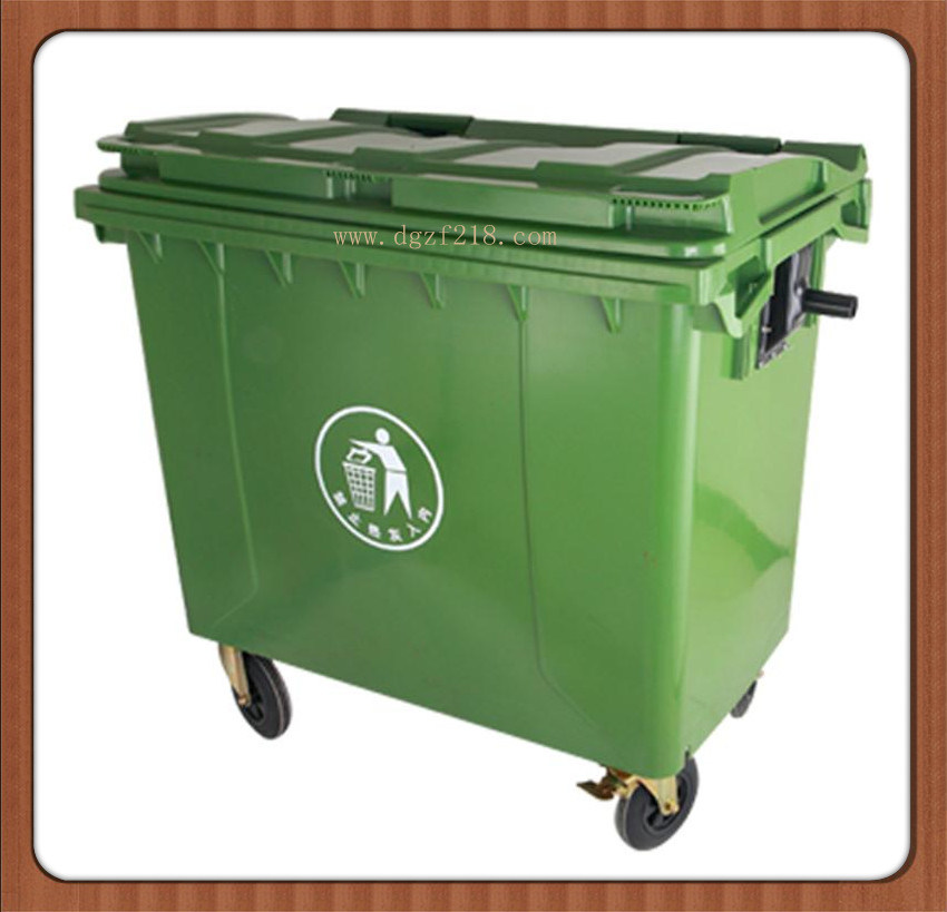 China 660L High Quality Plastic Industry Dustbin with Lid Manufacturer