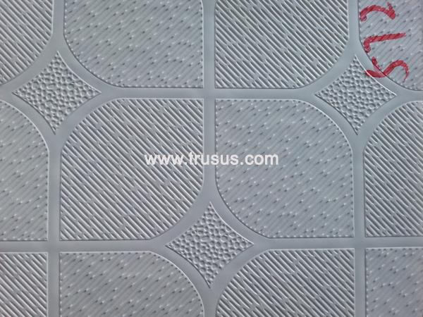 Vinyl faced ceiling tile
