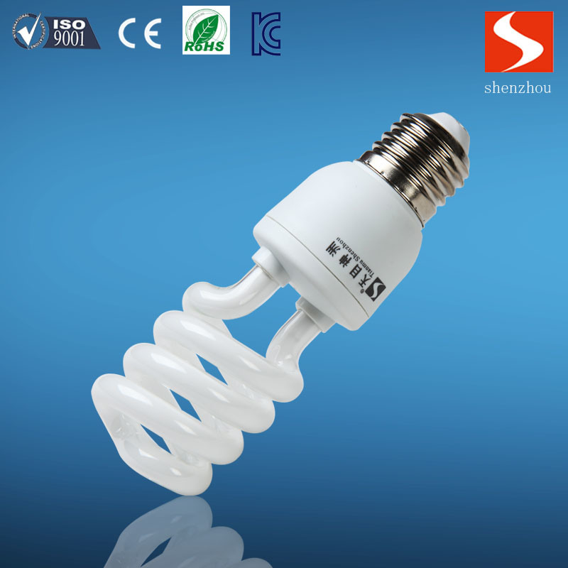 Half Spiral 9W Energy Saving Lamp, CFL Bulbs, E26/E12