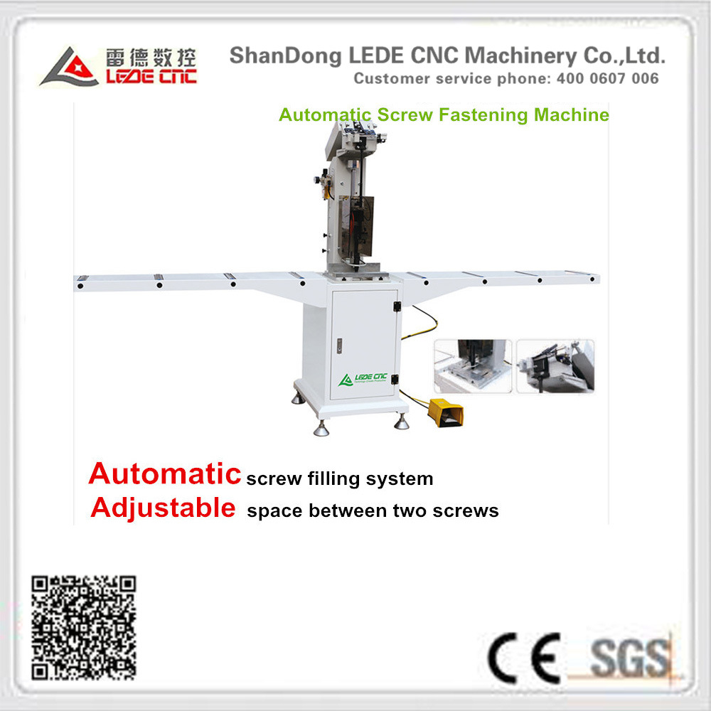 Automatic Screw Double Head Fasten Machine for UPVC/PVC Window