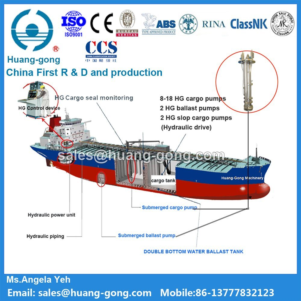 Marine Hydraulic Deep Well Cargo Pump System for Chemical Tankers