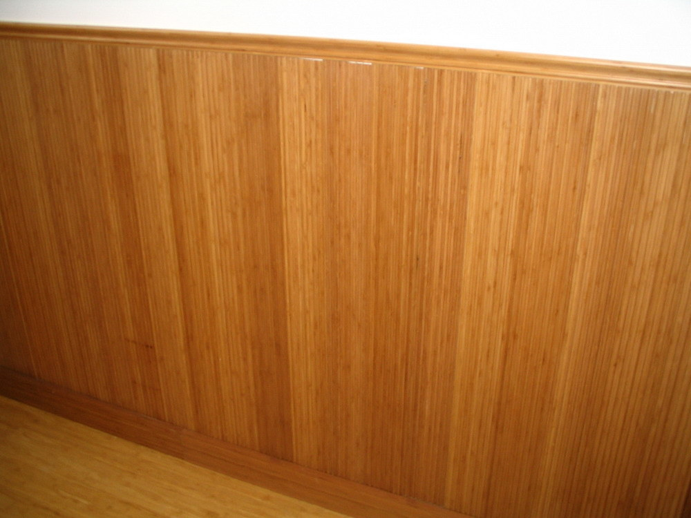 cherry wood wallpaneling