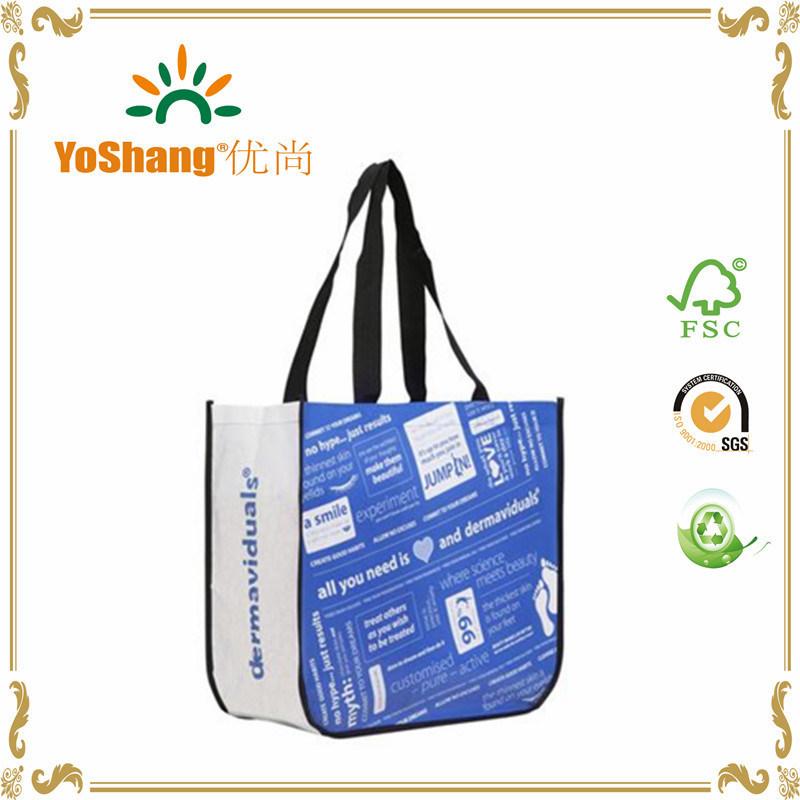 High Quality Fashion Custom Promotional Lululemon Non Woven with Laminated Shopping Bag
