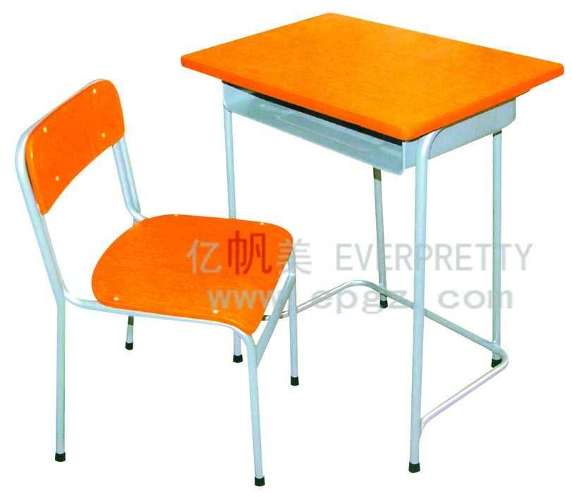 China single student desk and chair school furntiure - Student desk and chair set ...