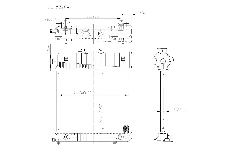 Aluminum Radiator for Mercedes
