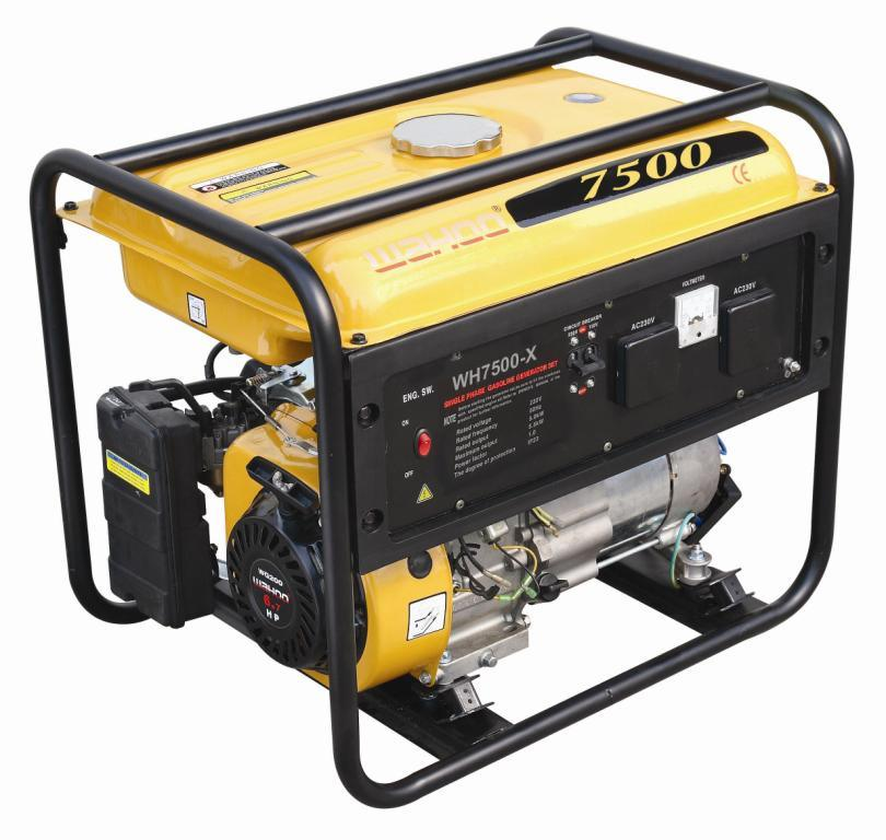 6kw CE Approval Wahoo Gasoline Generator Single Cylinder (WH7500-X)