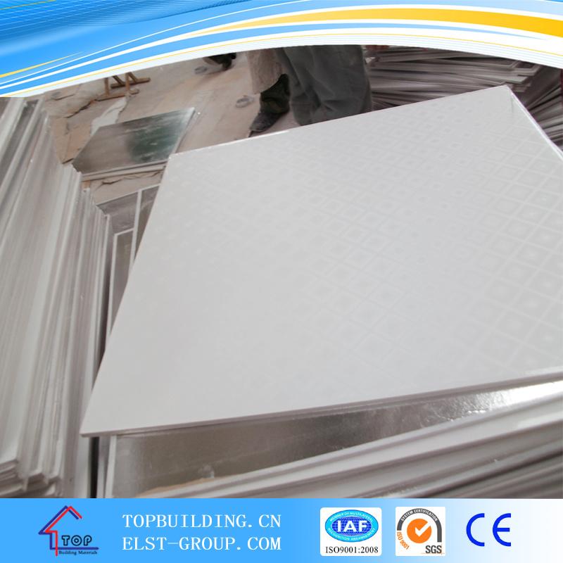 Embossed PVC Gypsum Ceiling 595*595*9mm