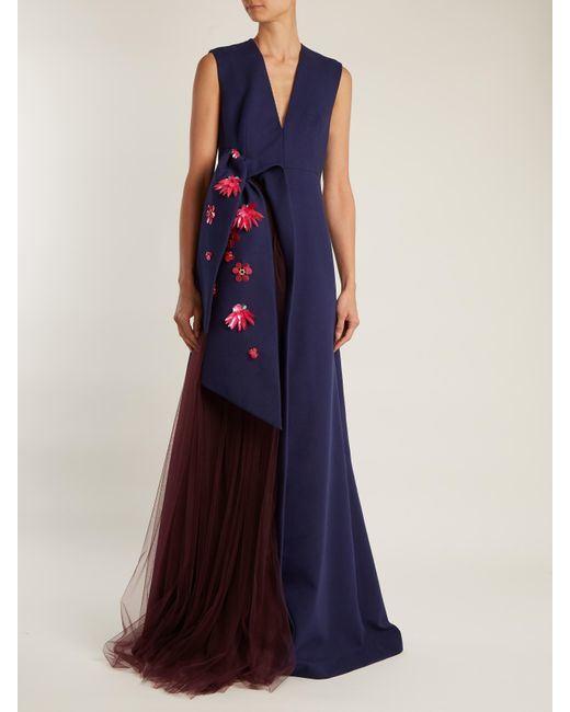 Floor Length Gorgeous V Neck Evening Party Dresses