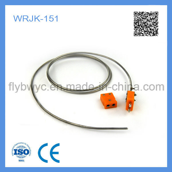 Wrjk-151 Non-Fixed Device Sheathed J Type Thermocouple with Couple Plug