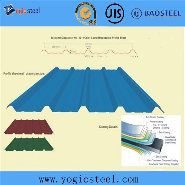 Thin Zinc Corrugated Steel Roof Flashing