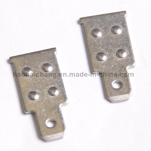 OEM Metal Stamping Auto Electrical Welding Flat Terminal Connector