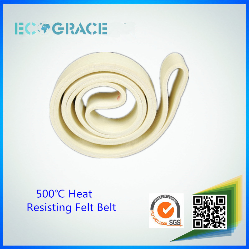500 Degree Heat Resist Aluminum Extrusion Kevlar Nomex Felt Belt