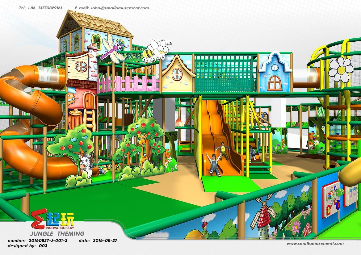 Professional Manufacturer of Village Themed Indoor Playground Equipment