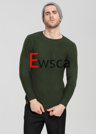 Ewsca Round Neck Super Fit Pure Cashmere Sweater