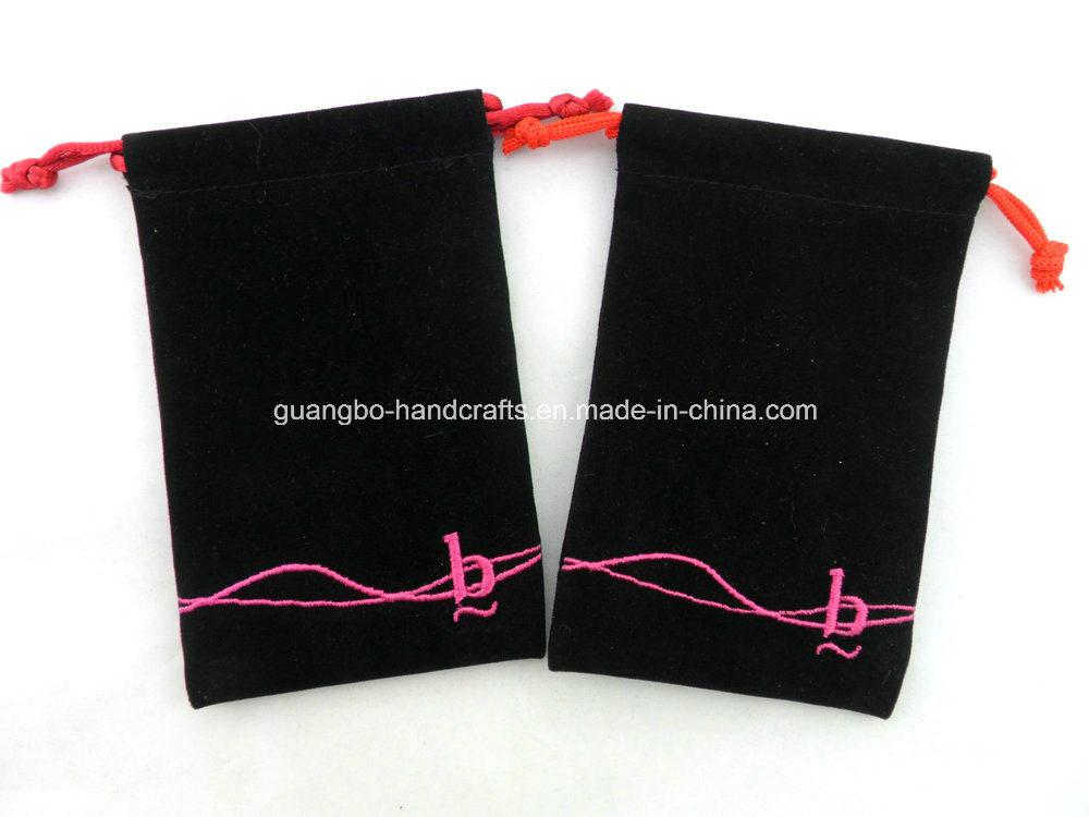 Custom Black Velvet Jewellery Pouches Bags