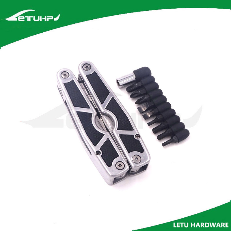 Stainless Steel Multi Tool with Screwdriver Bits