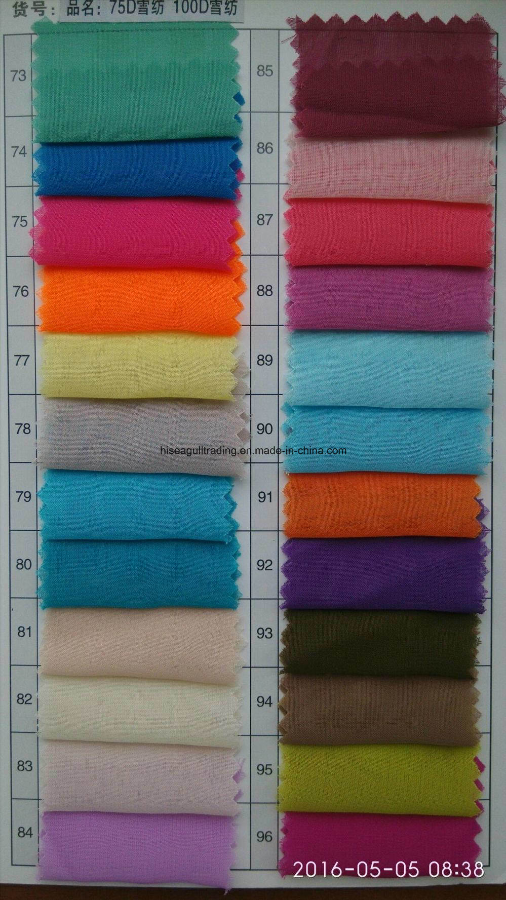 100d*100d Polyester Chiffon Fabric for Skirt, Scarves etc