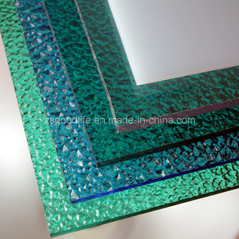 Plain Diamond Embossed Polycarbonate Solid Sheet with Excellent Impact Strength