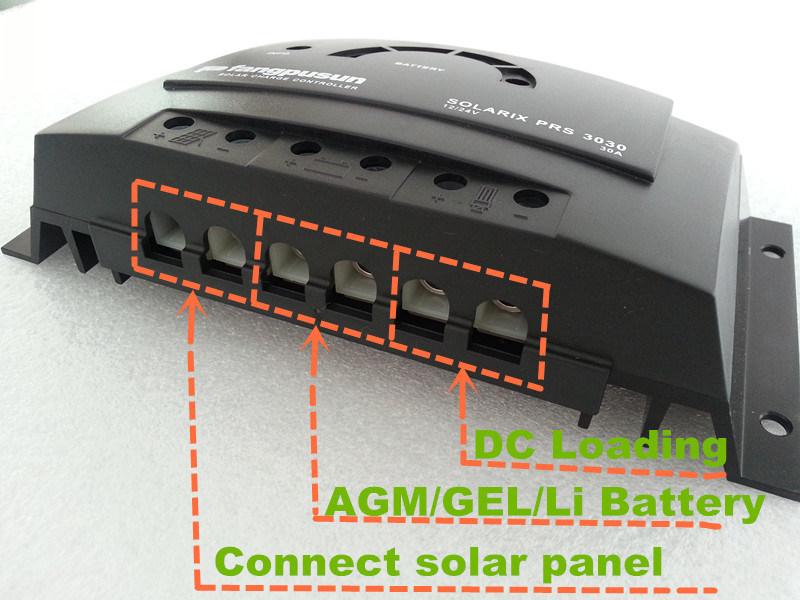 Ce RoHS Fangpusun LED Display Street Light System 30A Hybrid Solar Charge Controller 12V 24V