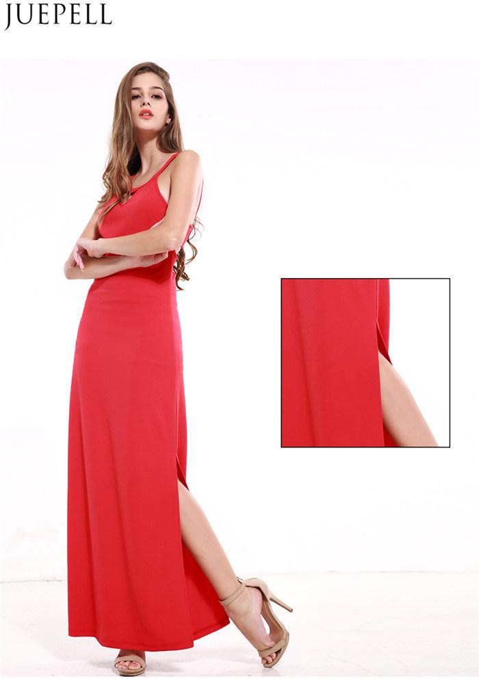 Summer New Halter Bandage Dress Strapless Dress Solid Color Sleeveless Dress Sexy Package Hip Split Women Dresses
