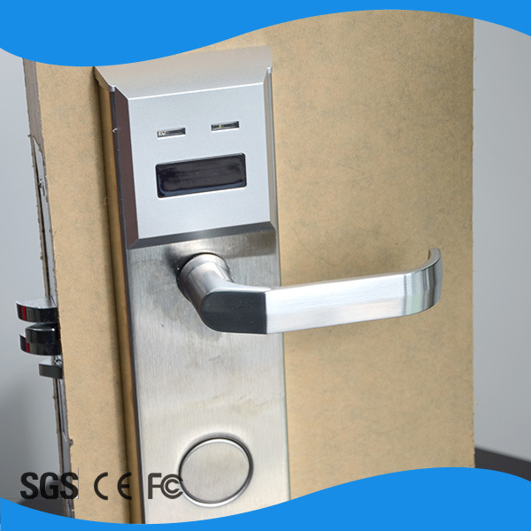 Stainless Steel Hotel Room Card Lock ANSI5 Mortise Hotel Lock