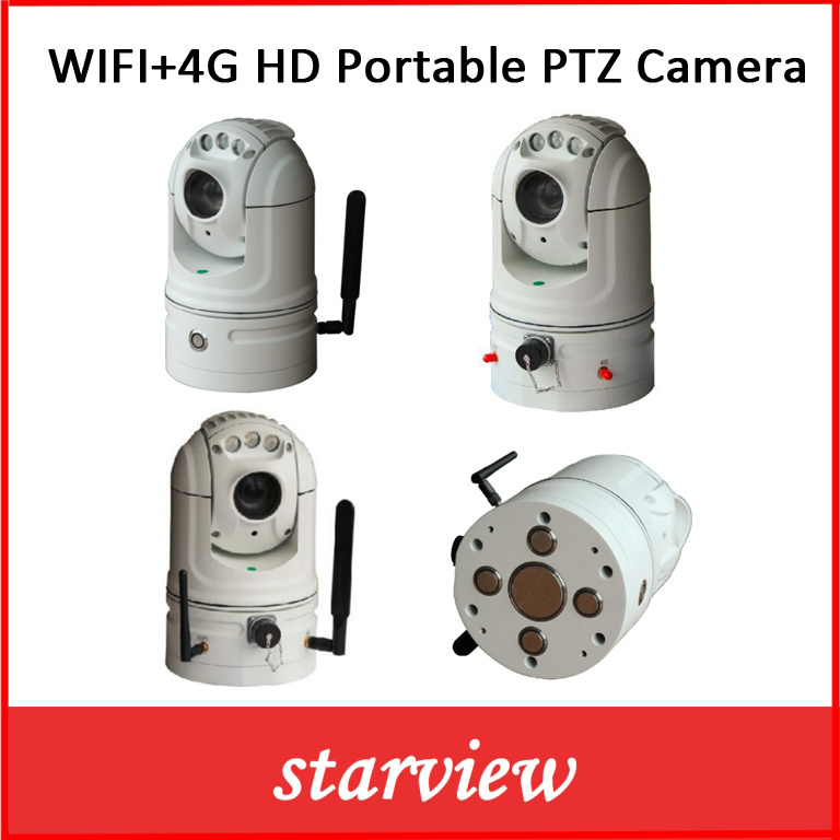 WiFi + 4G HD Portable Network PTZ Camera