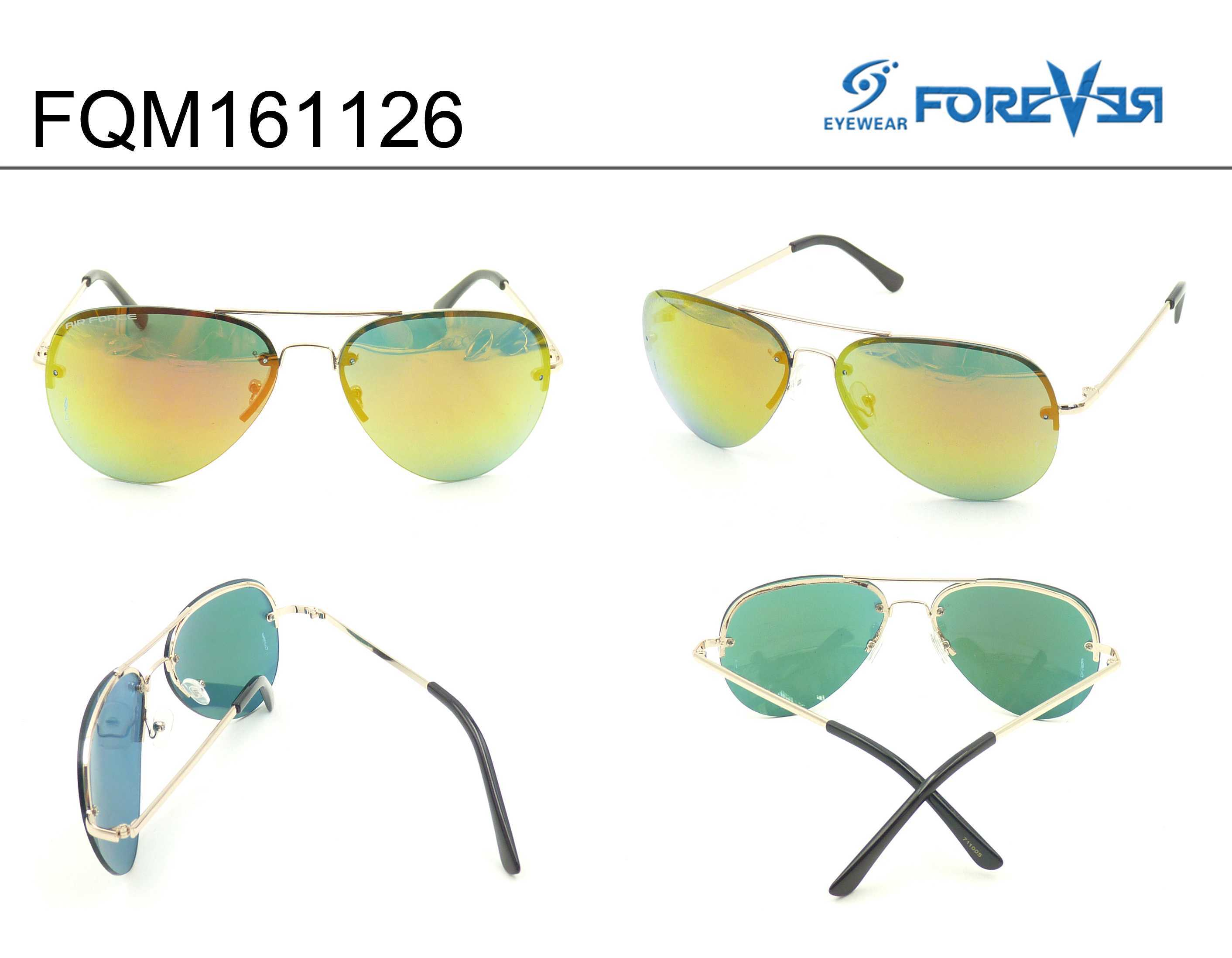 Fqm161126 New Design Good Quality Hotsale Unisex Metal Sunglasses