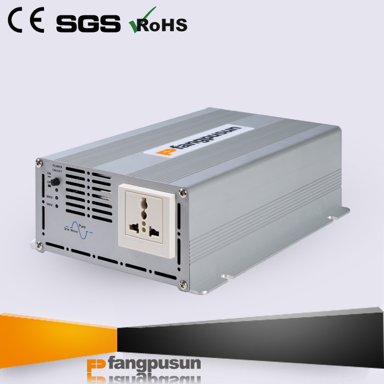 600W 12V/24V DC to 110V/230V AC Solar System True Sine Wave Inverter / Power Converter with Ce RoHS