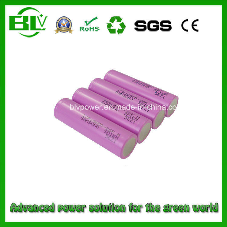 Lithium Battery for E-Bike with Samsung Icr18650-26f 2600mAh Battery Cell Used