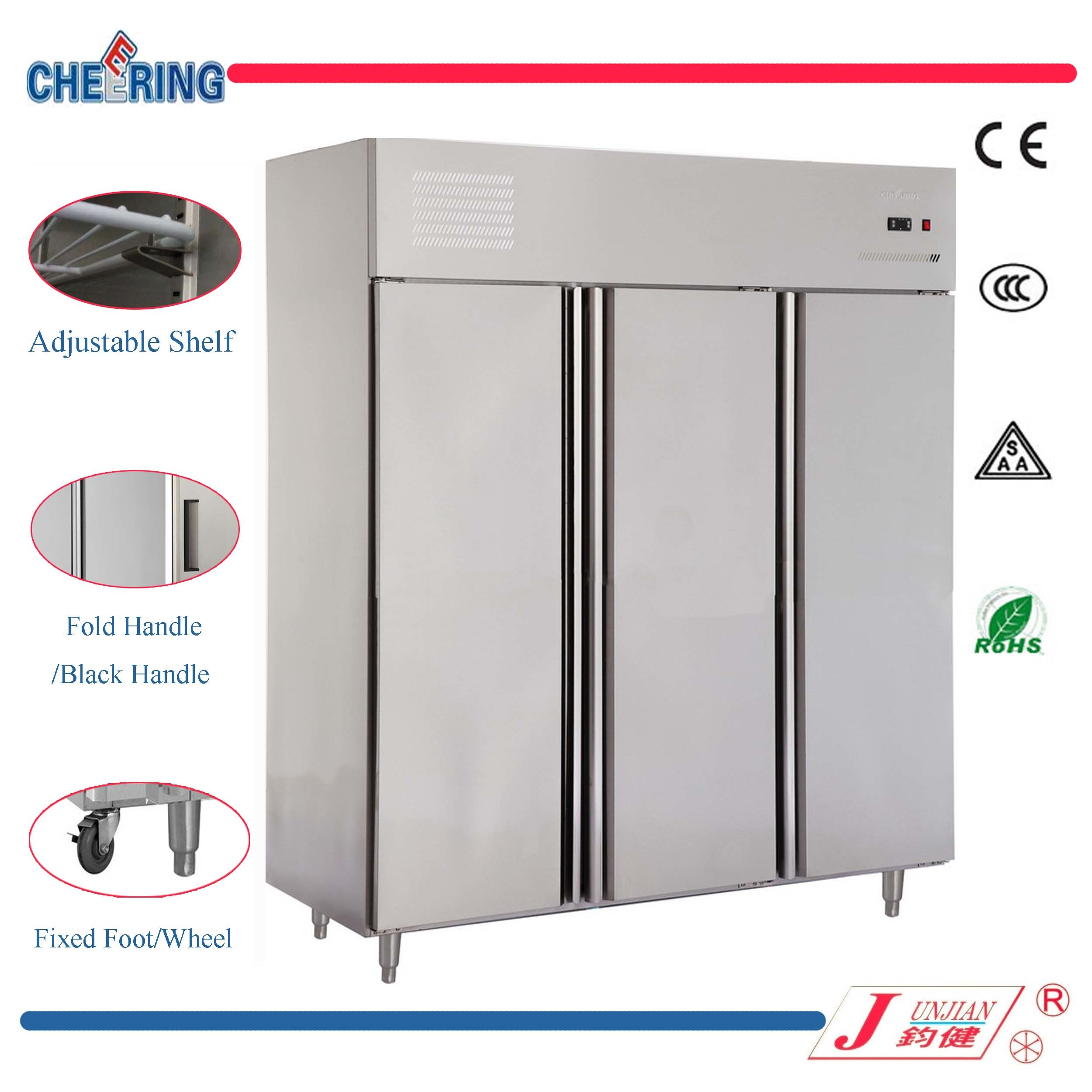 Commercial Stainless Steel Upright Refrigerator Freezer