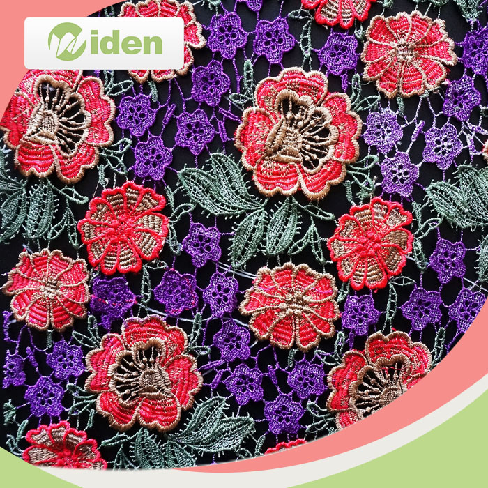 High Quality Swiss African Multi Color 3D Guipure Lace Fabric