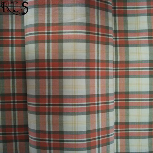100% Cotton Poplin Woven Yarn Dyed Fabric for Shirts/Dress Rlsc40-9