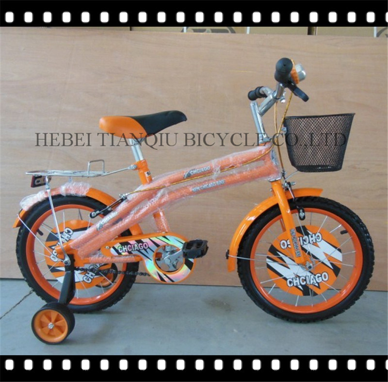 Orange Children Toys 12 Inch Kids Bike Children Bicycle with training Wheel
