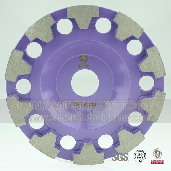 "7"" T Shape Segment Diamond Concrete Floor Grinding Wheel"