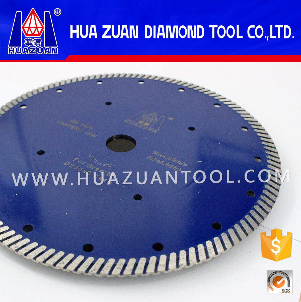 Diamond Stone Cutting Disc by Turbo Hot Pressed