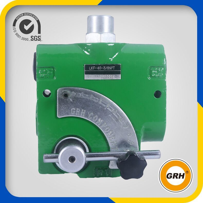 3/8NPT Hydraulic Cast Iron 60L/Min Flow Control Valve