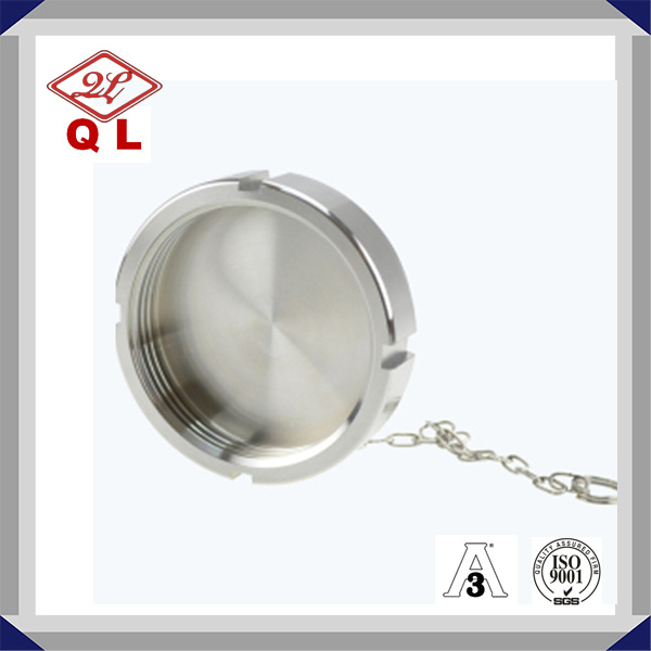 Sanitary Stainless Steel Fitting DIN Blank Nut with Chain