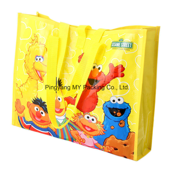 OEM Manufacturer Waterproof PP Woven Shopping Bag for Advertising