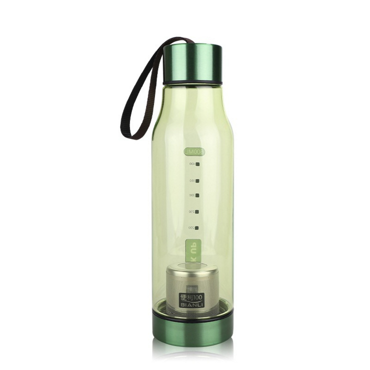 650ml BPA Free Plastic Tea Infuser Sports Water Bottle (1153KV)