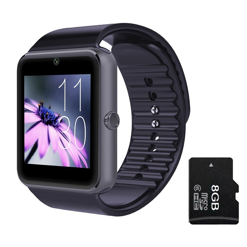 Smart Watch Gt08 Clock Sync Notifier with SIM Card Bluetooth Connectivity for Apple Android Smartwatch Phone for Ios Android OS