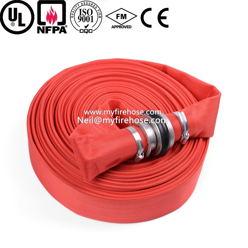 2 Inch Canvas Ageing Resistance of PU Cotton Fire Hose Price